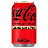 Coca Cola Zero sin cafeína lata 33cl