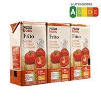 Eroski Basic Tomate frito brik pack 390g x 3