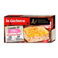 La Cocinera Recetas Artesanas Lasaña jamón york y queso 530g