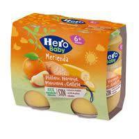 Hero Baby Merienda naranja, plátano y galleta 2x190g