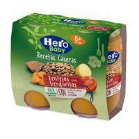 Hero Baby Llenties amb verdures receptes casolanes 2x190g