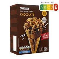 Eroski Basic Cono xocolata 4 uni 480ml