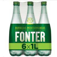 Fonter agua mineral natural con gas carbónico 6x1L