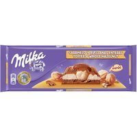 Milka Xocolata caramel i avellanes 300g