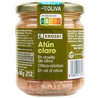 Eroski Atún claro en aceite frasco 185g