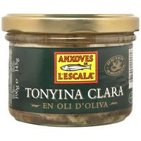 L' Escala Atún claro aceite oliva frasco 190g
