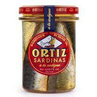 Ortiz Sardinas en aceite tarro cristal 140g