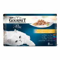 Gourmet Gold Comida gatos buey Perle sobres 4x85g