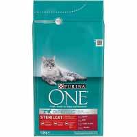 One Comida gato esterilizado buey 1,5kg