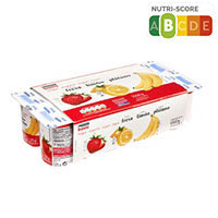 Eroski Basic Iogurt gust maduixa plàtan i llimona 8x125g