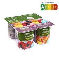 Eroski Iogurt Biactive 0% amb fruites del bosc i mango 4x125g