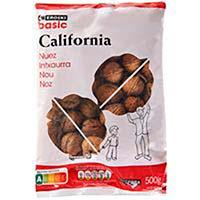 Nuez de California con cáscara EROSKI basic, bolsa 500 g