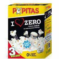 Palomites zero POPITAS, pack 3+1x70 g