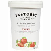 Pastoret Yogur con fresas 500g