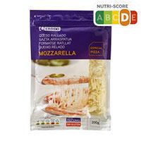 Eroski Queso rallado Mozzarella 200g