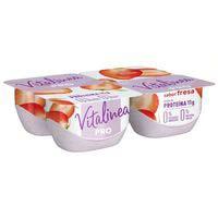 Danone Vitalinea Yogur PRO satisfacción fresa desnatado 4x125g