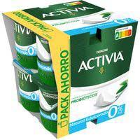 Activia 0% natural edulcorado DANONE, pack 8x120 g