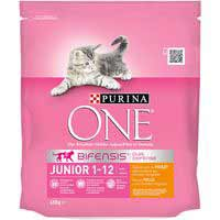One Comida gato junior rica en pollo y arroz 450g