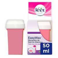 Veet Recambio Roll-On eléctrico cera piernas Easy Wax 50ml