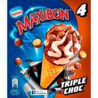 Cono Maxibon 3 chocolates NESTLÈ, 4 uds., caja 284 g