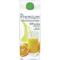 Premium Zumo de naranja sin pulpa 2l