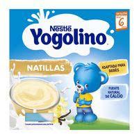 Yogolino de crema sabor vainilla NESTLÉ, pack 4x100 g