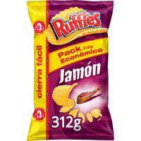 Matutano Patatas ruffles xl jamón 312g