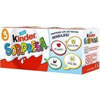Huevo de chocolate KINDER Sorpresa, pack 3x20 g
