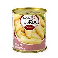 Rosa De Ria Puntes d'espàrrecs blanques 1/3 llauna 205g