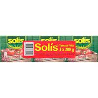 Tomate frito SOLÍS, pack 3x200 g