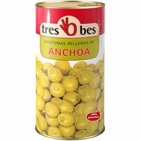 Tres Bes Olives farcides d'anxova 590g