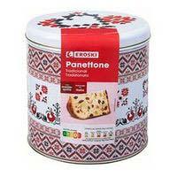 Pannettone EROSKI, llauna 750 g