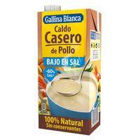 Gallina Blanca Brou casolà pollastre baix en sal 1l