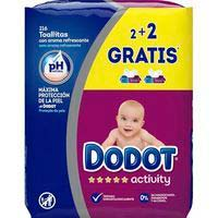 Dodot Toallitas Activity 54u x 4