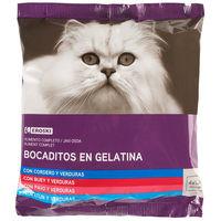 Eroski Comida gato multipack gelatina 4 uni
