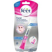 Veet cera + crema post-depilació facial 20 usos