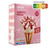 Eroski Basic Cono fresa 4u 120ml