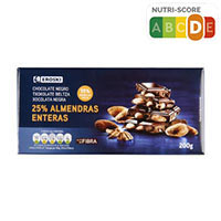 Eroski Xocolata negre ametlla 200g
