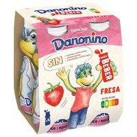 Iogurt infantil bebedino de maduixa DANONINO 4x100ml