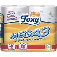 Foxy Papel higiénico 4=12 rollos