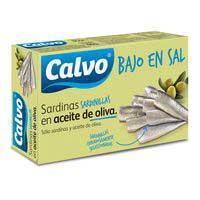 Calvo Sardinilla bajas en sal aceite 85g