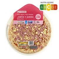 Eroski Pizza pernil i formatge 400g