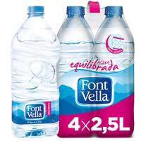 Font Vella agua mineral natural 4x2,5l