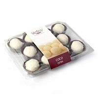 Panellets cocos blanco MUFFI'S, bandeja 211 g