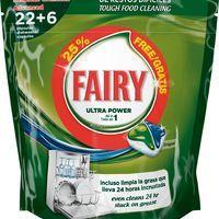 Fairy Detergente vajillas a máquina Todo en 1 22+4 cápsulas