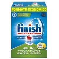 Finish Detergente lavavajillas todo en 1 limón 30 pastillas