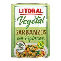 Litoral Garbanzos con espinacas 425g
