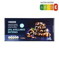 Eroski Xocolata negra avellana 150g