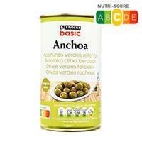 Eroski Basic Aceitunas rellenas anchoa 150g