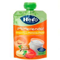 Hero Nanos ¡Super Merienda| Yogur con fresa y plátano 100g